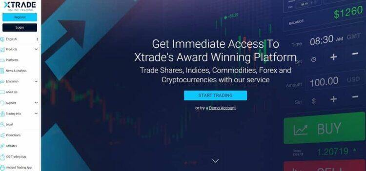 XTRADE Homepage